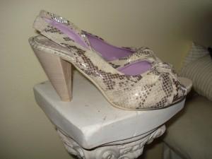 Slangeskins sko fra Milano