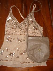 Vintage top og taske