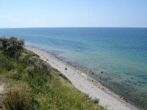 Strand tæt ved Gilleleje