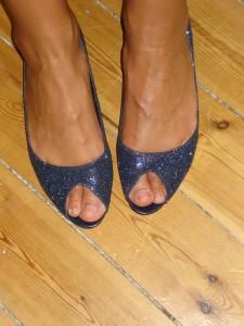 Glimmer sandaler: Pieces