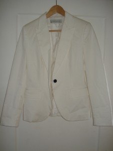 Hvid blazer fra Zara