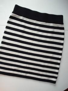 Stribet nederdel fra H&M