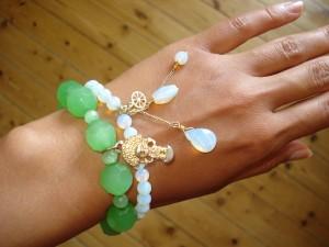 Grønt armbånd: DIY, Hvidt armbånd: Pilgrim