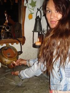 På middelalder restaurant
