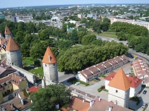 Udsigten fra et gammelt kirketårn