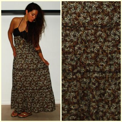 Leopard maxi kjole fra Gina Tricot