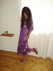 Lilla vintage kjole