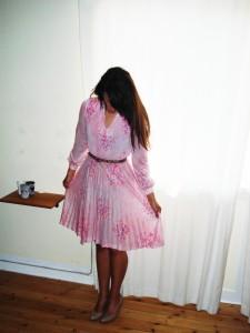 Vintage kjole med blomster