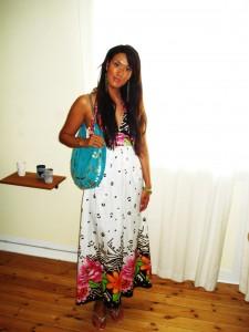 Maxi kjole: Asos, Taske: Friis & Co.