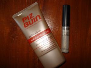 Piz Buin creme & GOSH glimmer eyeliner