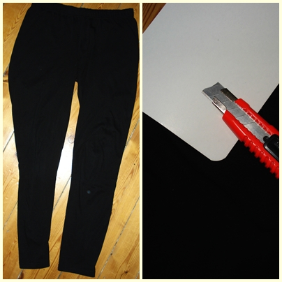 DIY ripped leggings