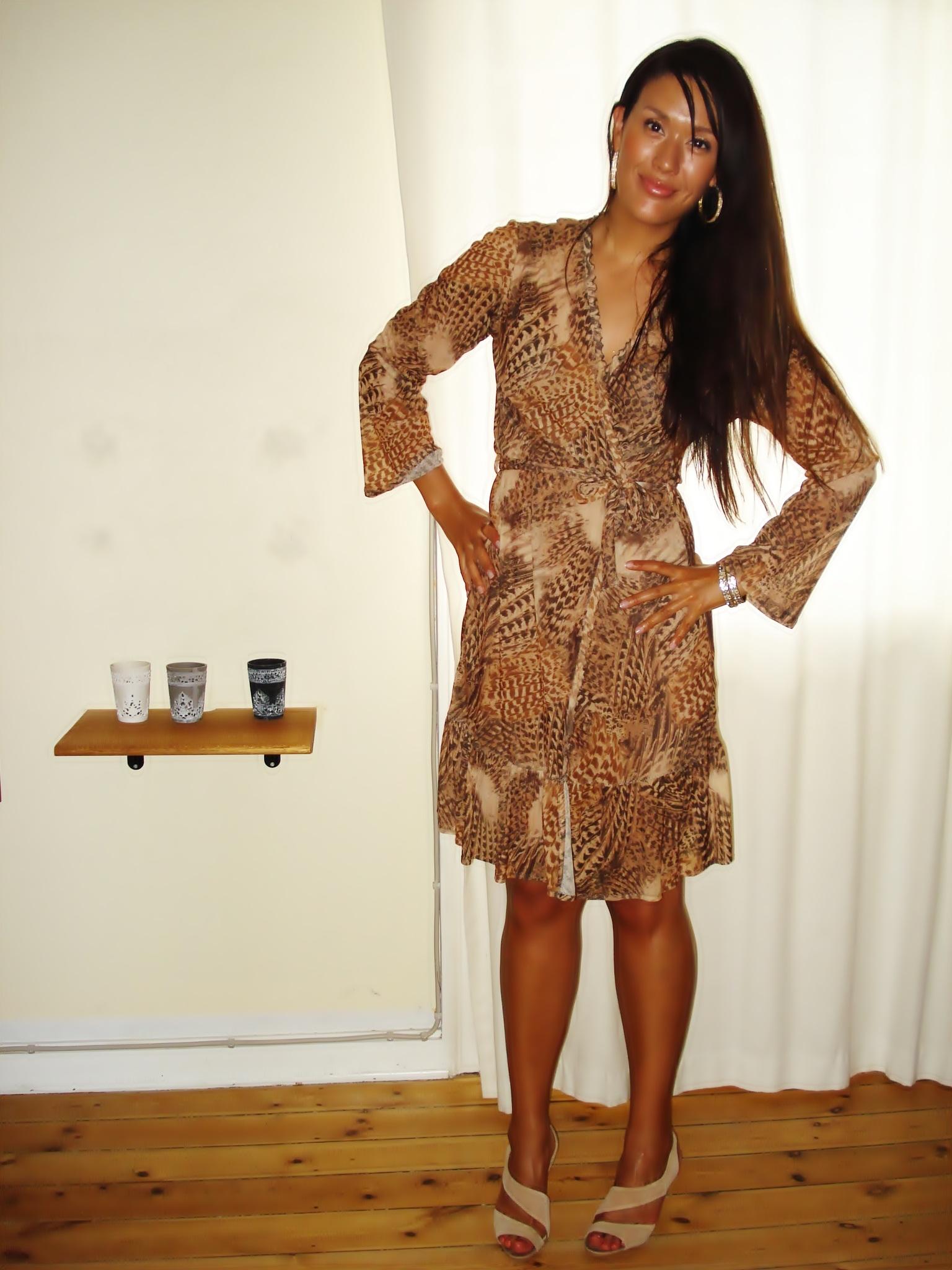 Hjemmesyet kjole af min mor