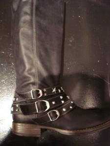 Bikker boots med nitter fra Jette Riis