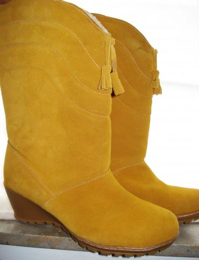Støvle med gummihæl