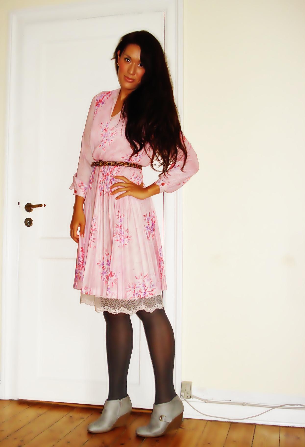 Kjole: Vintage, leopard bælte: H&M