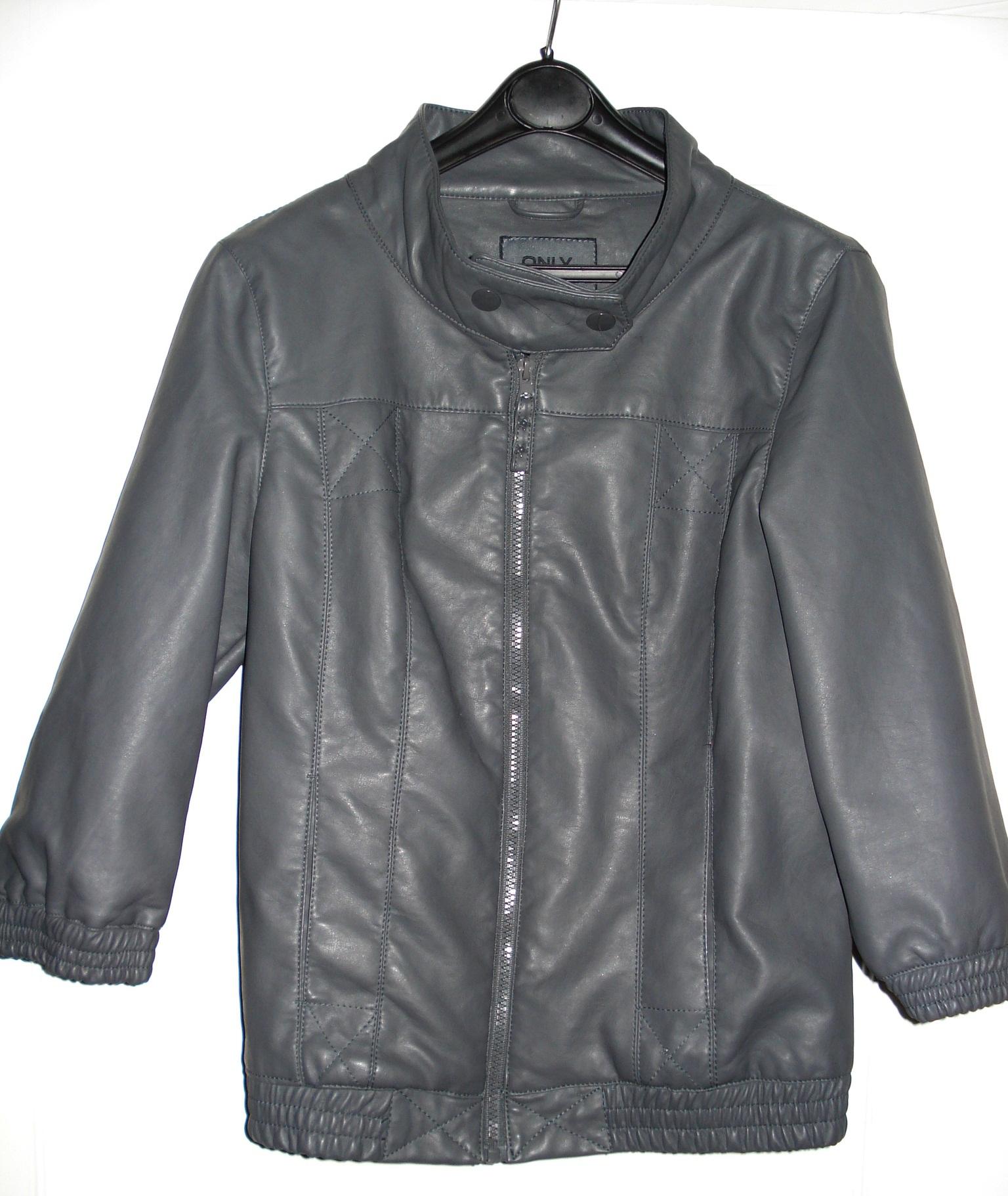 Imiteret læder jakke fra Only