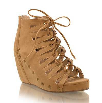 Wedge lace sandal fra Nelly