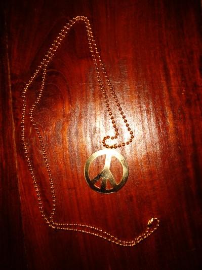 Peace tegn halskæde