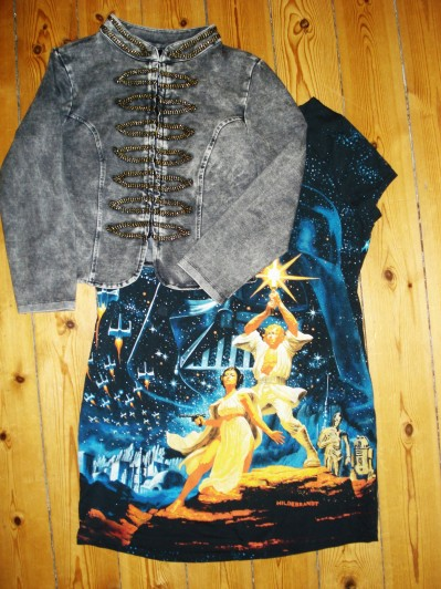 Grå Uniforms jakke & Oversize Star wars T-shirt fra H&M