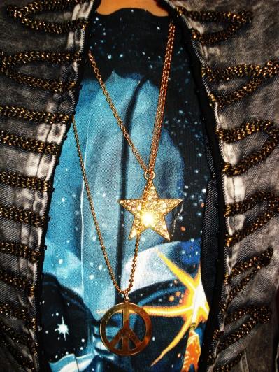 Stjerne halskæde: Pilgrim, Peace tegn halskæde: DIY