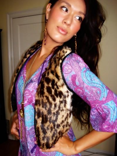 DIY leopard vest