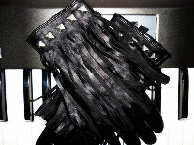 Frynse & Nitte læder handsker fra Gina Tricot