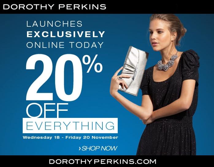 20-discount-voucher-rabat-kode, rabat discount Dorothy Perkins