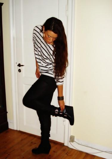 Faux leather pants: MbyM
