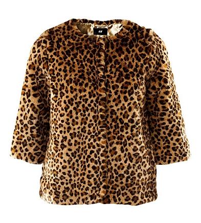 Leopard faux fur jacket H&M 399,- Kr