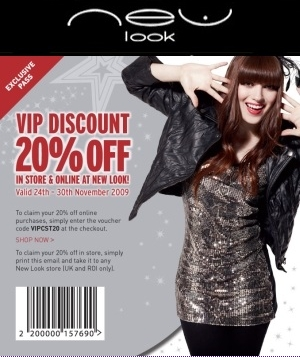 new-look-discount voucher, rabat kode newlook