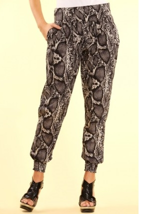 python-printed-cotton-harem-trousers
