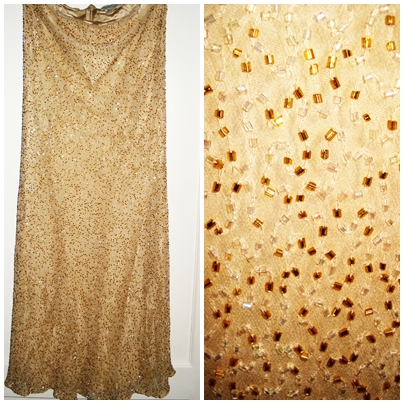 Vintage sequin maxi skirt