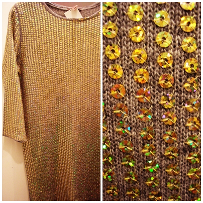 Sweater dress with sequins from H&M
