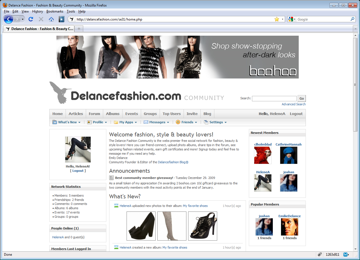 Delancefashion Community, mode stil og skønhed forum
