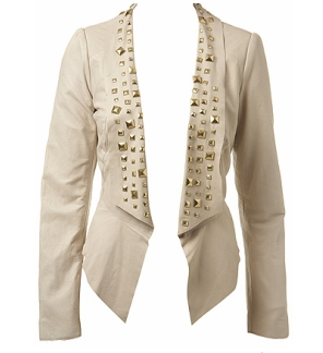 Studded leather blazer 125£