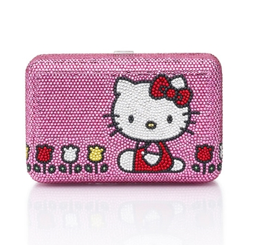 Hello kitty clutch  embellished pink-tulip