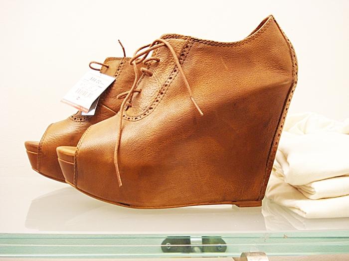 Shoe boots wedges Zara, Kilehæls støvletter Zara