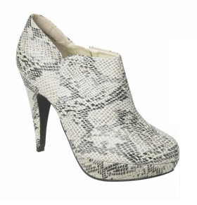 Snake Skin Ankle Boot