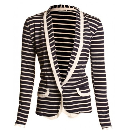 Striped Jersey Blazer