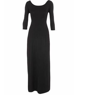Black jersey empire maxi dress 28£