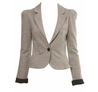 Grey Heart Pocket Blazer