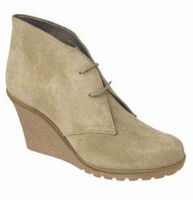 Wedge suede ankle boots