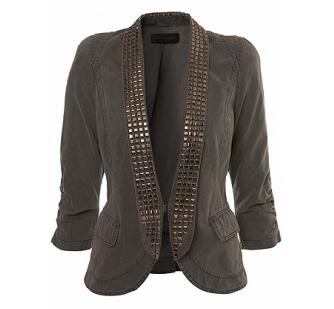 Grey Stud Trim Jacket 50£