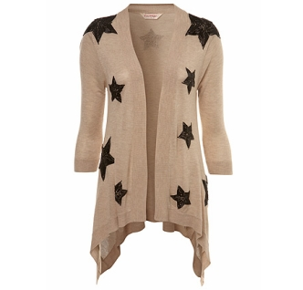 Mink Star Embellished Cardigan 38£