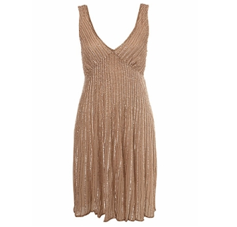 Nude Diamond Embellished Dress 85£