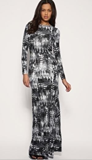 Asos maxi kjole, ASOS Feather Print Jersey Maxi Dress