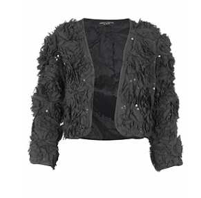 Black rose embellished jacket