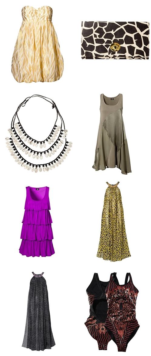 H&M shop online, leopard kjole, army grøn kjole, lilla flæse kjole, purple frill dress,