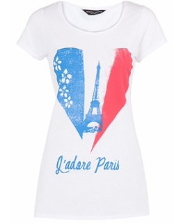 White Paris tee 10£