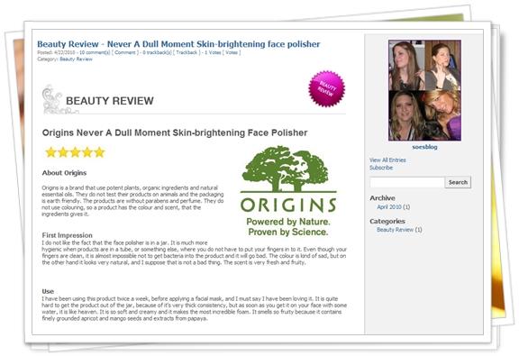 Skønheds artikler, beauty reviews